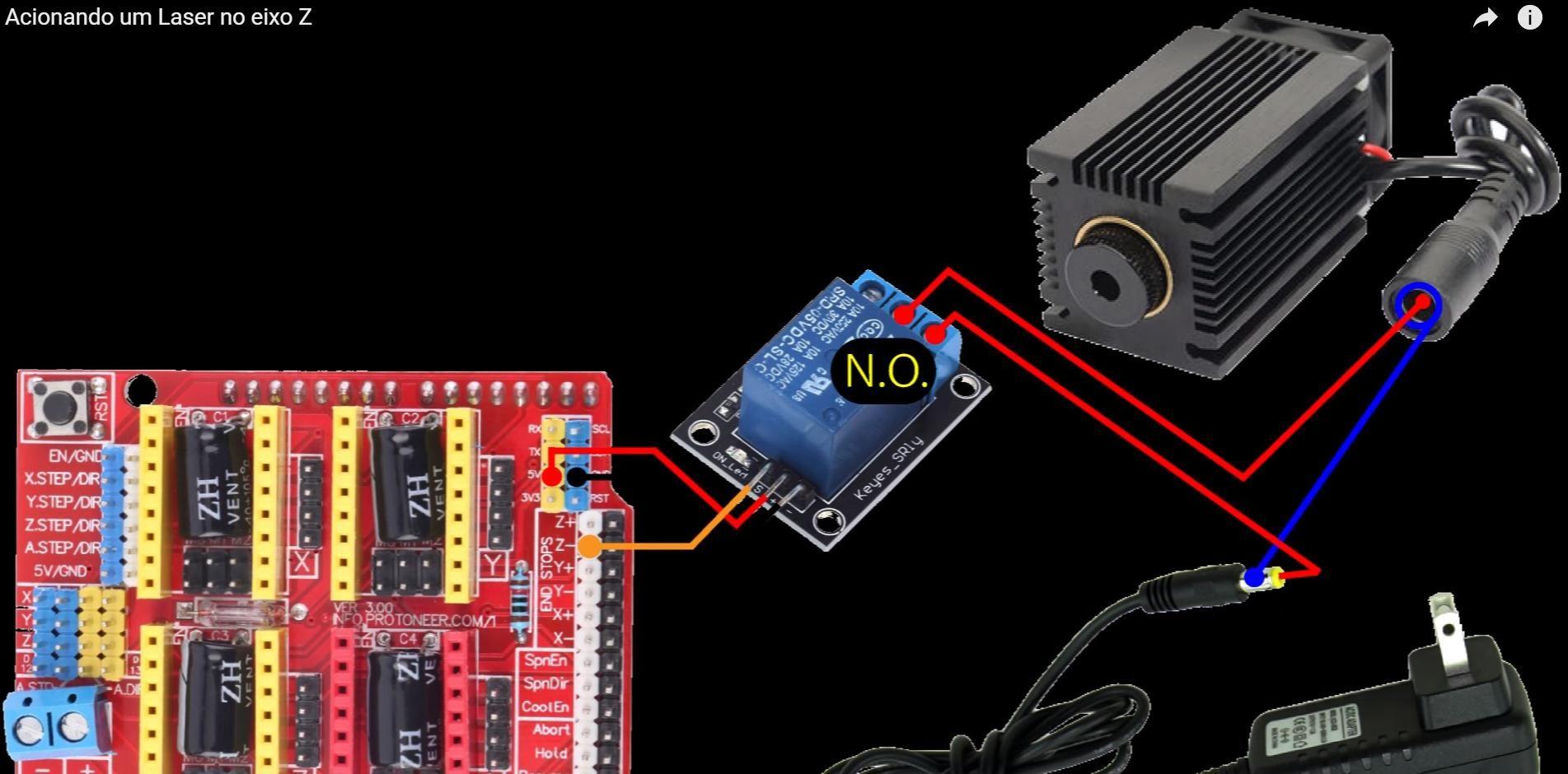 Como Ligar Um Laser No Eixo Z Arduino Em 2019 Cnc