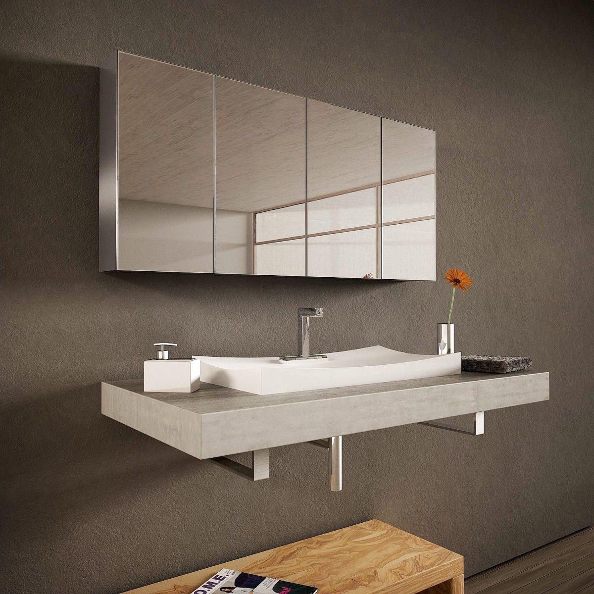 Spiegelschrank aus Aluminium   Tulixo   Spiegelschrank ...