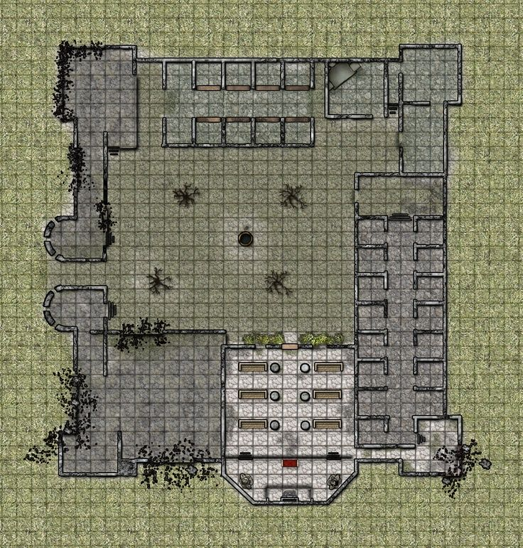 its a ruin of a small keep