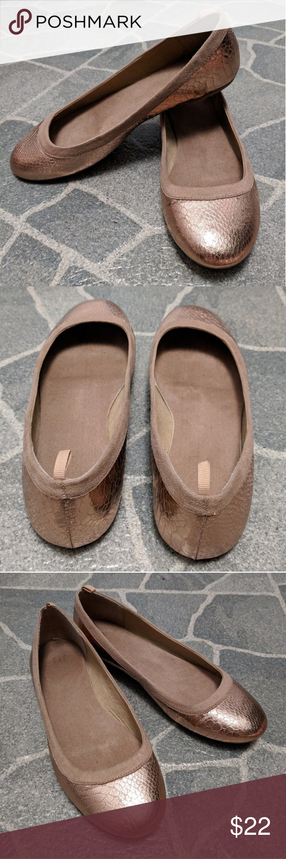 c8338a093 Flats shoes Rose Gold flats by GAP GAP Shoes Flats & Loafers | My ...