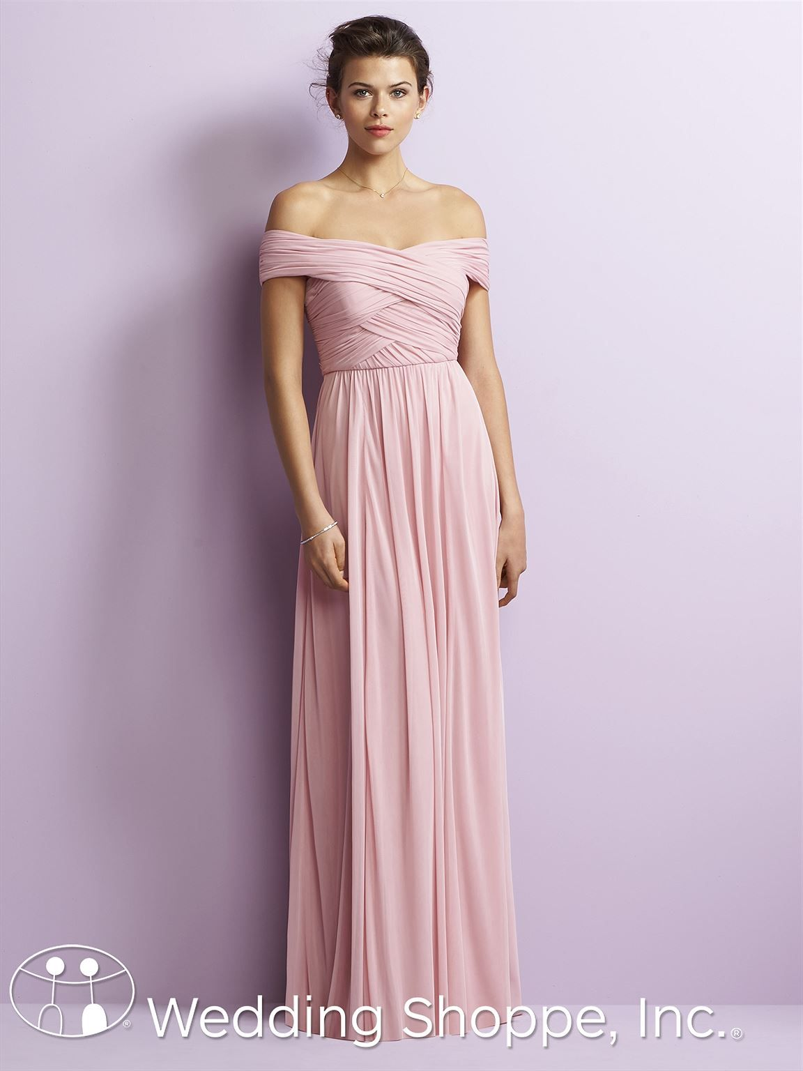 Jenny Yoo By Dessy Bridesmaid Dress Jy514 Long Chiffon Off The Shoulder Boho Style