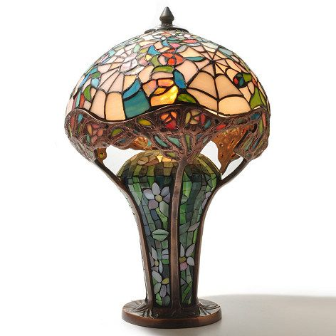 Tiffany Style 19 Cobweb Stained Glass Table Lamp Shophq Com Lamp Stained Glass Table Lamps Table Lamp