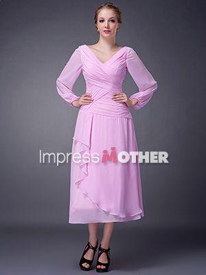 pink mothers wedding dresses in tea length