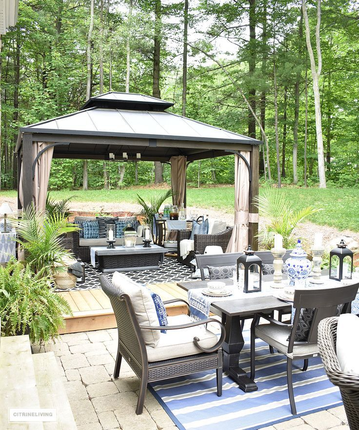 An outdoor oasis with three specific zones: lounging, dining and conversation, see our new backyard patio reveal - perfect for entertaining!