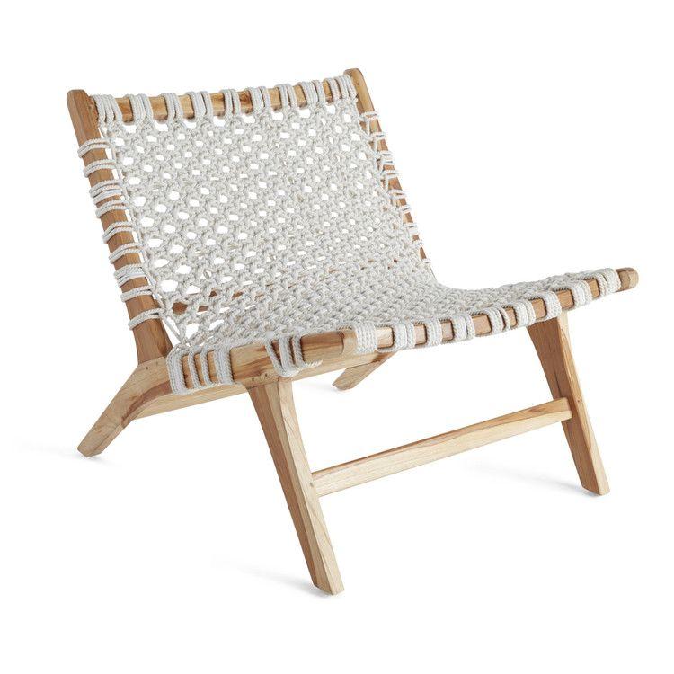 Nautical Knots Low Seating Teak Chair Teak Chairs Linen