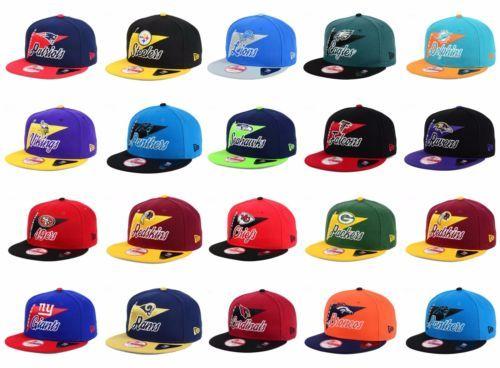 New Era Nfl Authentic 9fifty Mens Snapback Logo Stacker Baseball Hat Cap Ebay Baseball Hats New Era New Era Hats