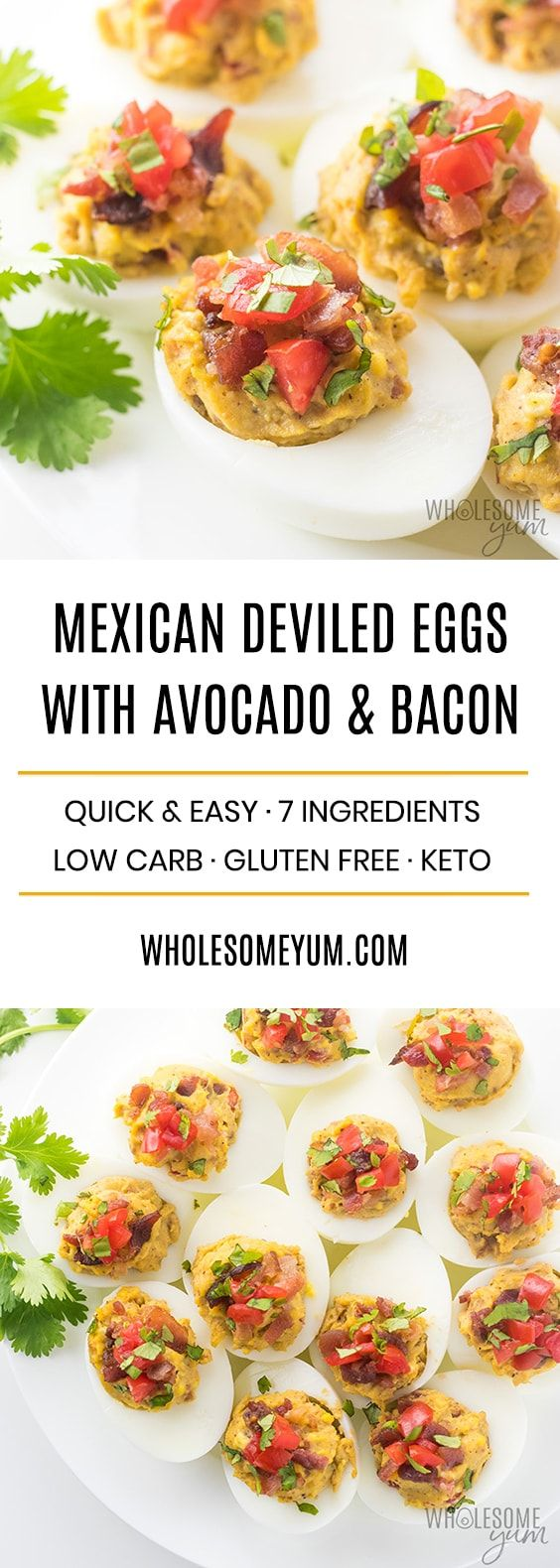 Easy Keto Deviled Eggs Recipe | Wholesome Yum