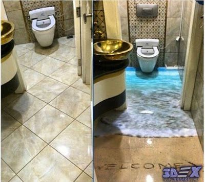 How To Make 3d Bathroom Floor And 3d Self Leveling Floor