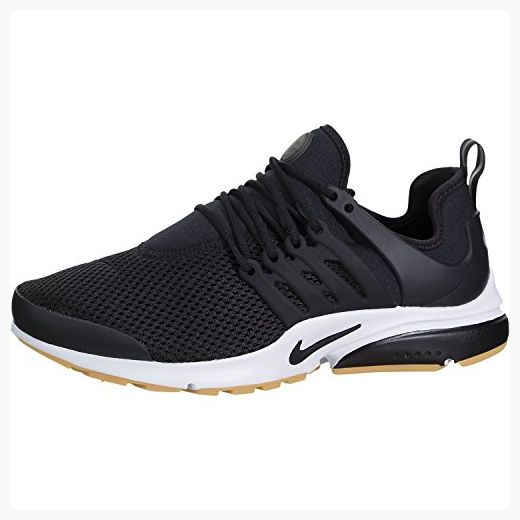 e99a5ebccdd4 Nike Womens Air Presto Black Black-white-gum Yellow Running Shoe Sz ...
