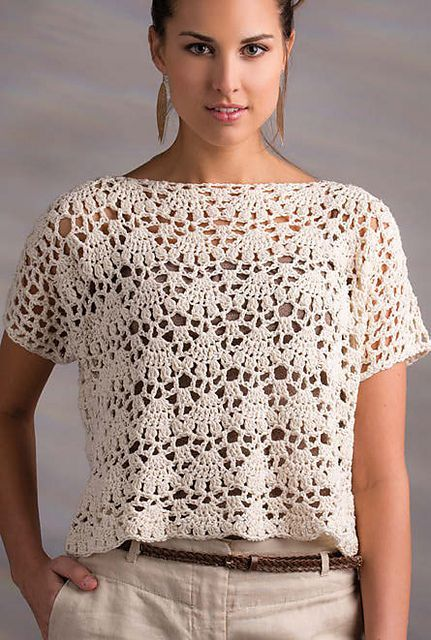 Venice Lace Top Pattern By Nt Maglia Crochet Jumpers Pinterest