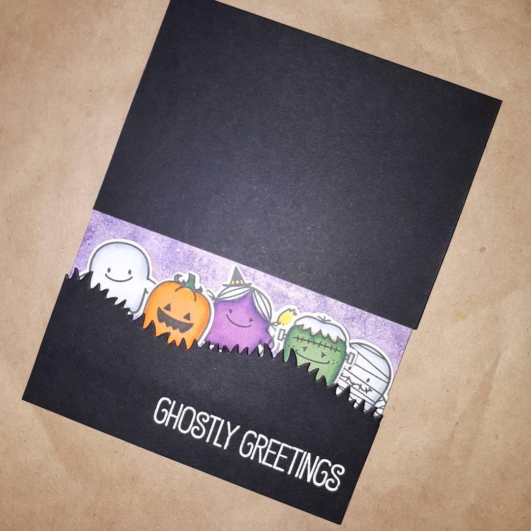 "Wei (@craftworldofwei) On Instagram: ""Halloween Card! It Is For @"