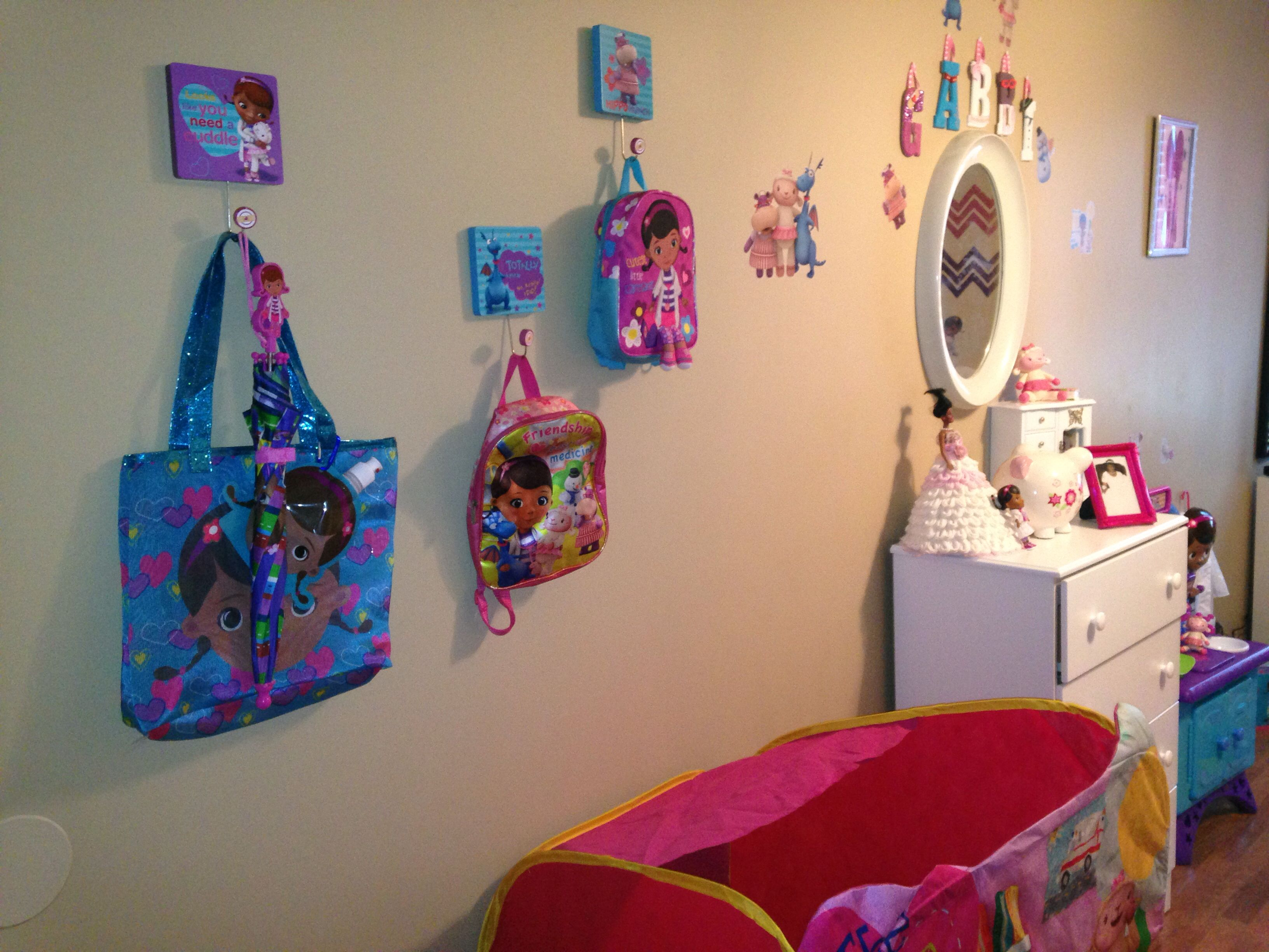 Pin by Tanzania Coley on Doc Mcstuffins Bedroom  Toy room decor
