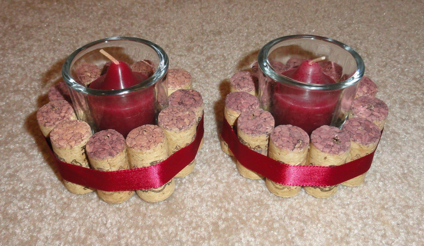 Wine Cork Candle Holders I Had A Ton Of The Same Corks That I Was Able To Use For These E6000 Is Wine Cork Candle Wine Cork Candle Holder Cork