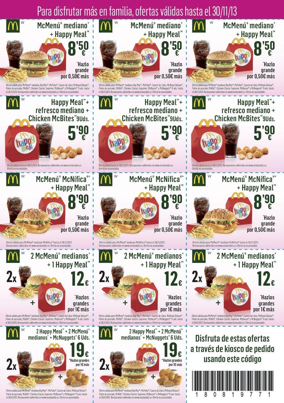 Pulsa En La Imagen Para Imprimir Tus Cupones De Descuento Para Mc Donalds Centro Comercial Meridiano Vencen A Final De Mes Food Mcdonalds Printable Games