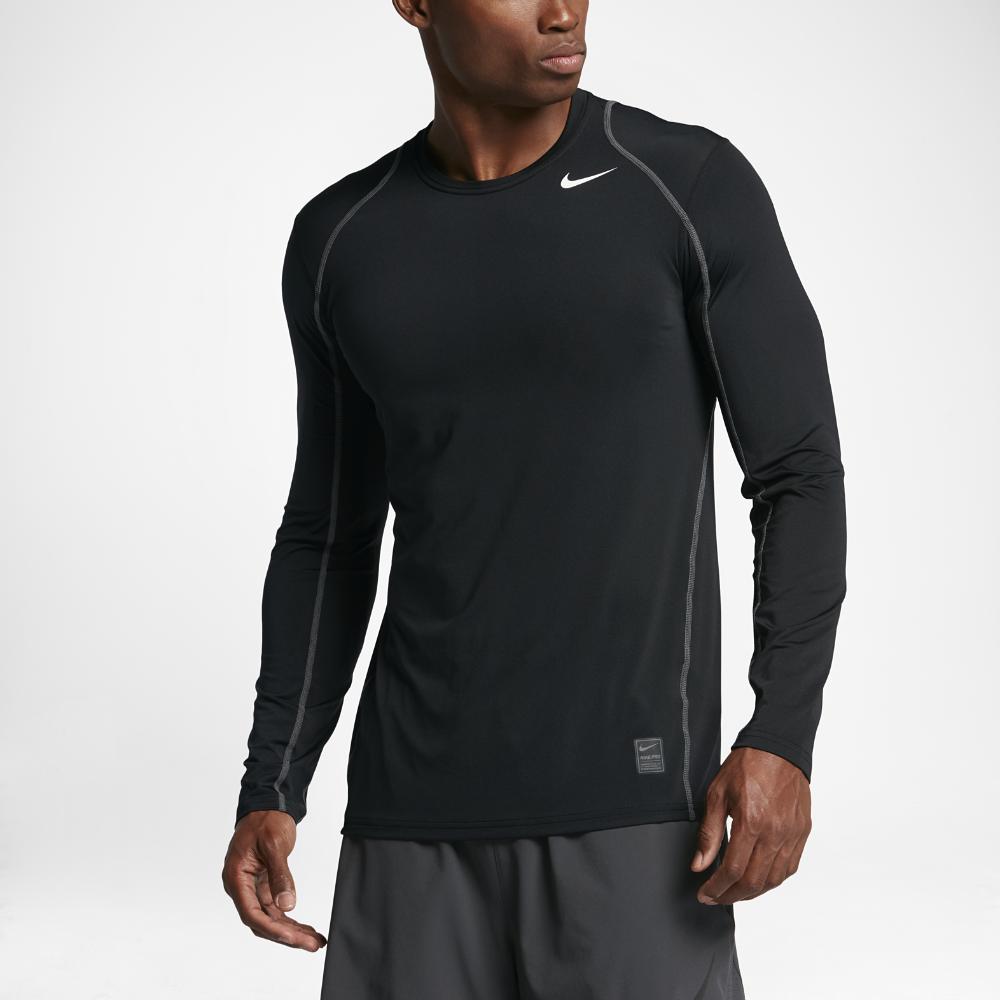 cbdbc444 Nike Pro Men's Long Sleeve Training Top Size Medium (Black ...