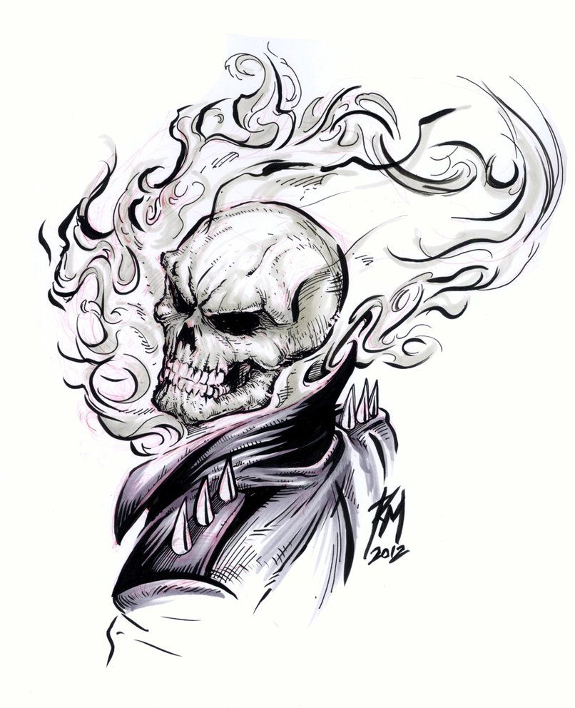 How To Draw Ghost Rider Cartoon Google Search Drawlings Ghost