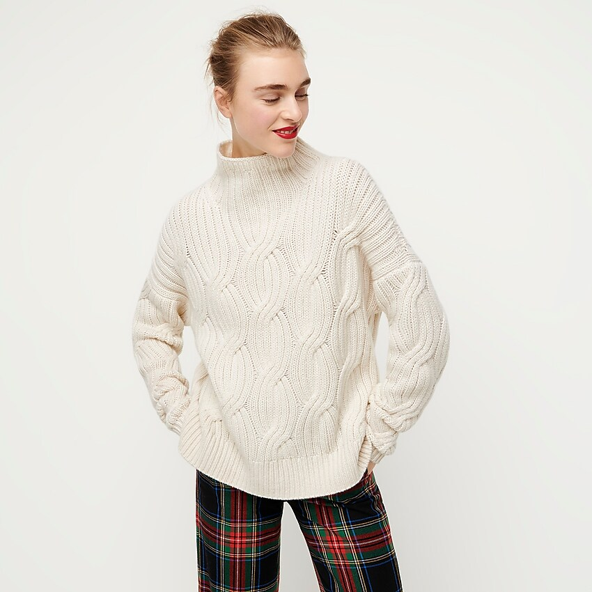 J.Crew: Collection Cashmere Cable knit Turtleneck | Sweaters