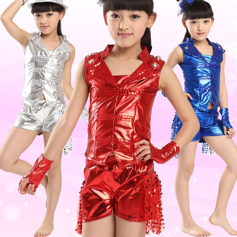 ed12b1728 Click to Buy    Children s Day Jazz Dancewear Girls Performance ...