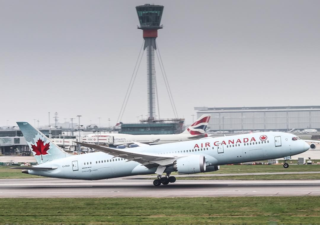 Harry Heathrow Spotter Di Instagram Air Canada B787 8