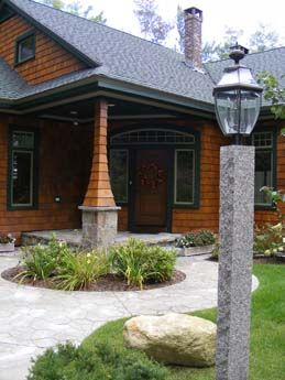 You Can Never Have Too Much Natural Stone Can You Say Curb Appeal Caledonia Lamp Post Lamppost Outdoorlighting Granite Curb Appeal Lamp Post Rustic Fence