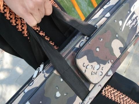 Long Grey Travel Folding Portable Fishing Rod Bag  80cm/1.2m