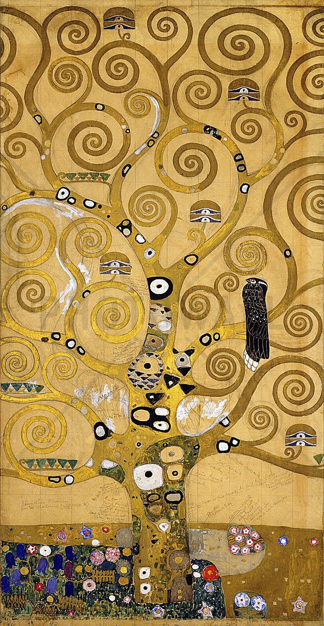 Klimt, Gustav - The Tree of Life - Wall Mural & Photo Wallpaper ...