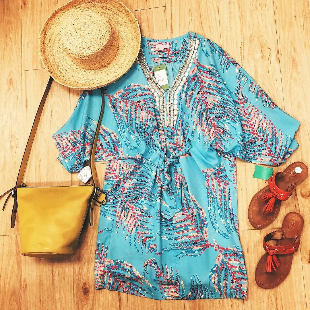 Outfit Fridays Title:Lilly Pulitzer Beaded Collar Tie waist Dress (New with Tags) Size XS Price:$114.99 Item #:5221-550  Title:Gap Yan Straw Hat Price: $9.99 Item# 18439-283  Title: Coach Mustard Yellow Crossbody 'Bleecker' Mini Bag Price: $119.99 #261-466  Title: Coach Red Leather Thong Sandals w/tassels size 7 Price: $49.99 #6815-60  Location: Buckhead To purchase or see more pictures and details call 770.390.0010 ex. 1  #alexissuitcase #buckhead #atl #atlantaconsignment #thriftatl #resale…