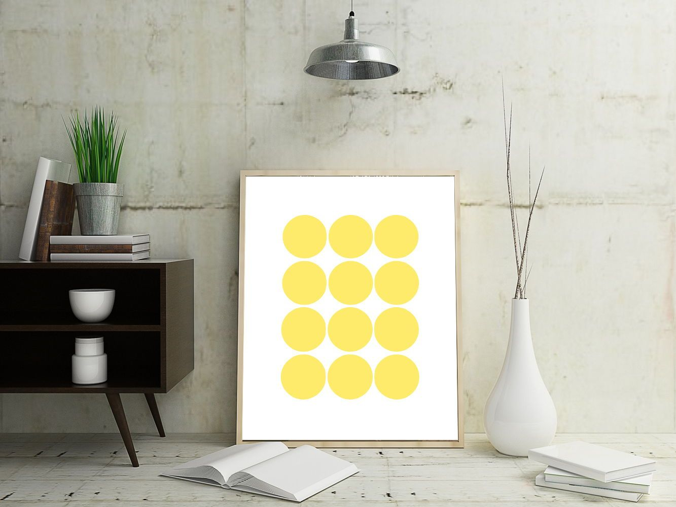 Yellow Wall Art, Geometric Wall Art, Abstract Art Prints, Yellow Art ...