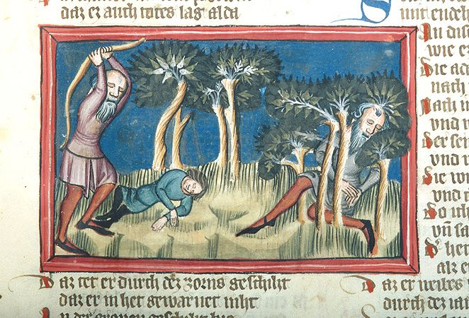 Weltchronik, MS M.769 fol. 18r - Images from Medieval and Renaissance Manuscripts - The Morgan Library & Museum
