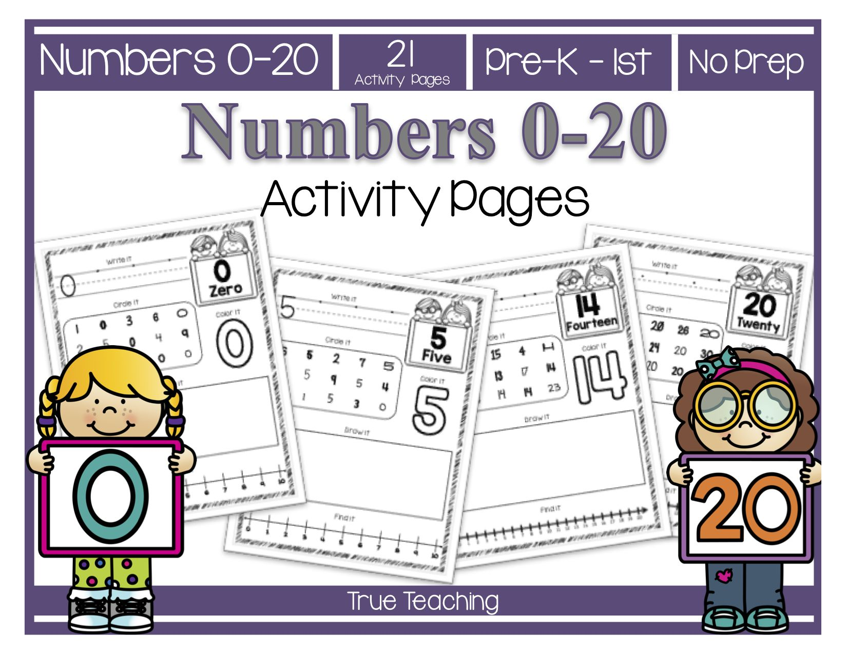 Numbers 0 20 Activity Pages