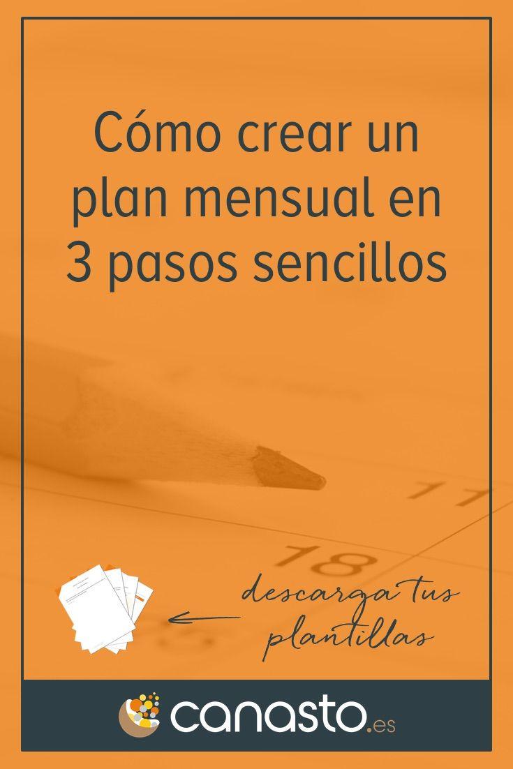 Como Crear Un Plan Mensual En 3 Pasos Sencillos Trabajo Excel