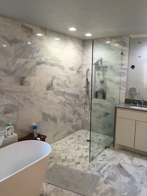 12 Marble Floor Designs For Styling Every Home: Tempesta Neve Polished Marble Floor