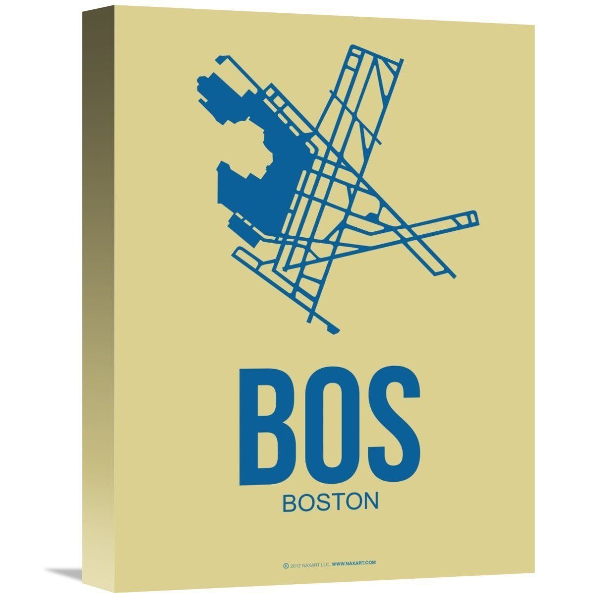 Naxart Studio \'bos Boston Poster 3\' Stretched Canvas Wall Art ...