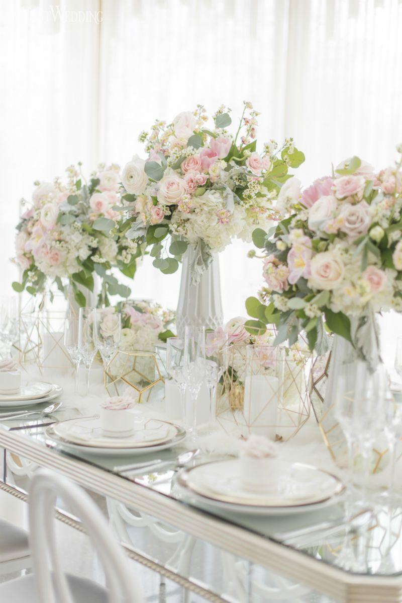 Modern Marble Wedding Inspiration | Wedding table settings ...
