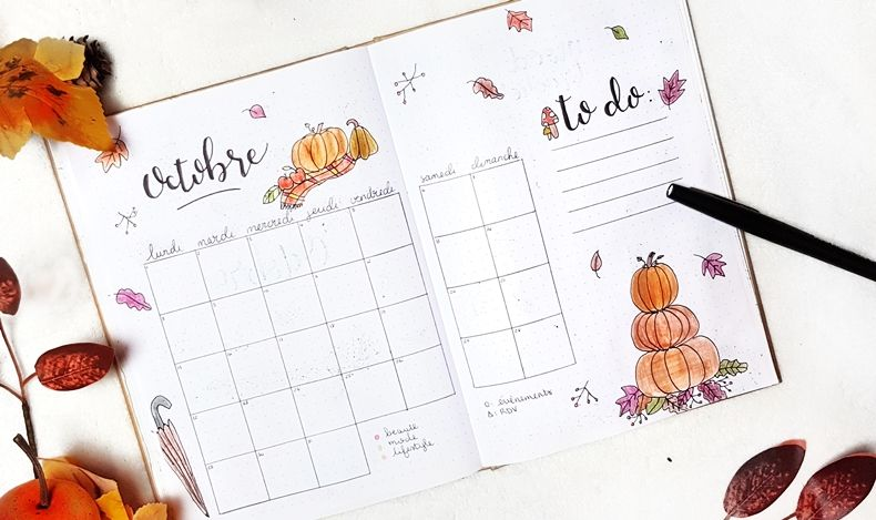 Bullet journal #9 Octobre et ses jolies feuilles