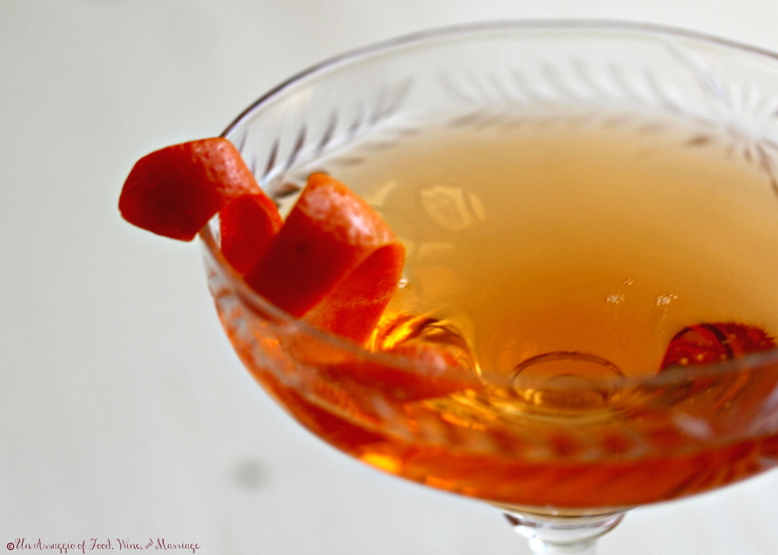 The Seelbach a seductive bitter bubbly cocktail. It is the signature cocktail of the Seelbach Hotel in Kentucky first mixed in 1917.