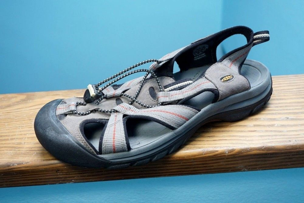 f16cea75c7e2 Men s Keen Venice H2 Sport Sandals Water Shoes Hiking Wading Sz 13 Grey  Brown  KEEN