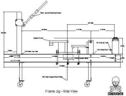 Frame jig | Motorcycle engines and blueprints | Pinterest ...