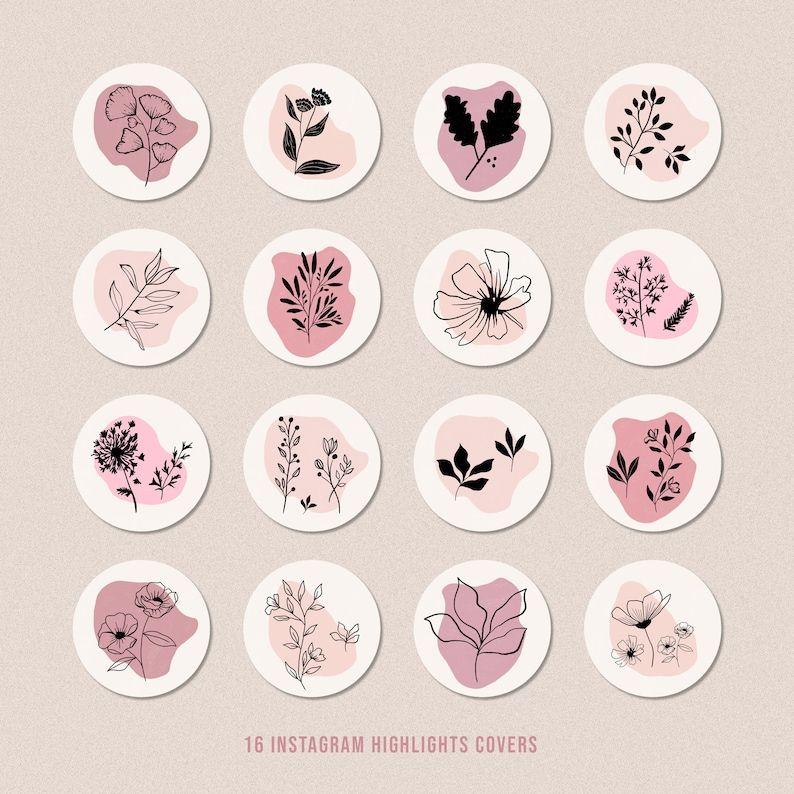 Instagram Icons - Botanicals Wildflowers,  Instagr
