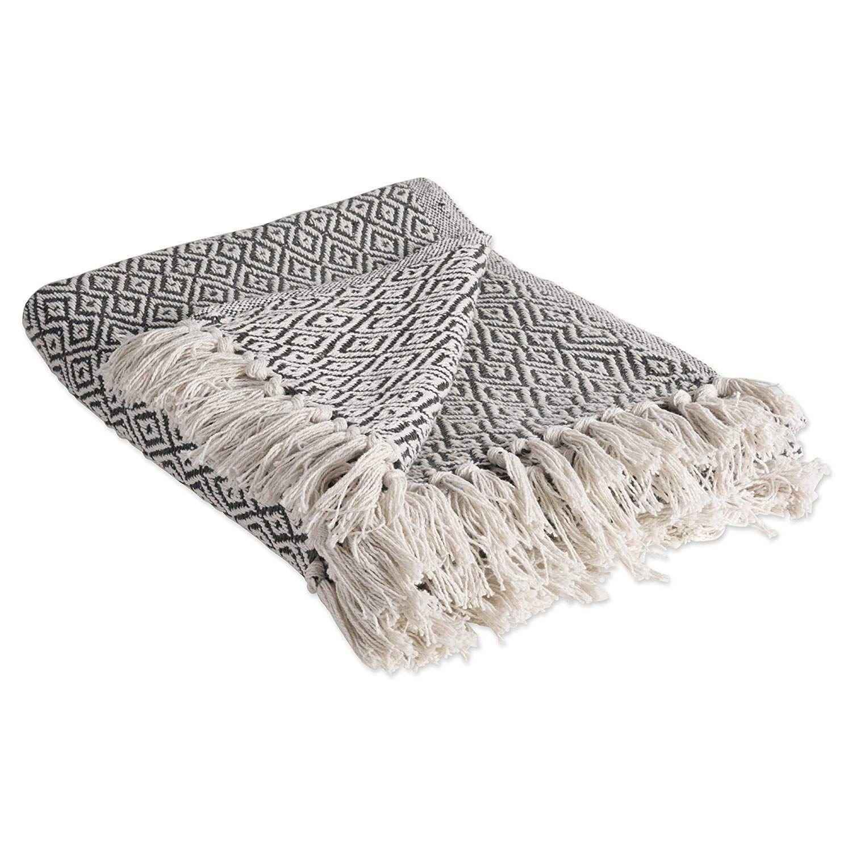 Dii rustic farmhouse cotton diamond blanket