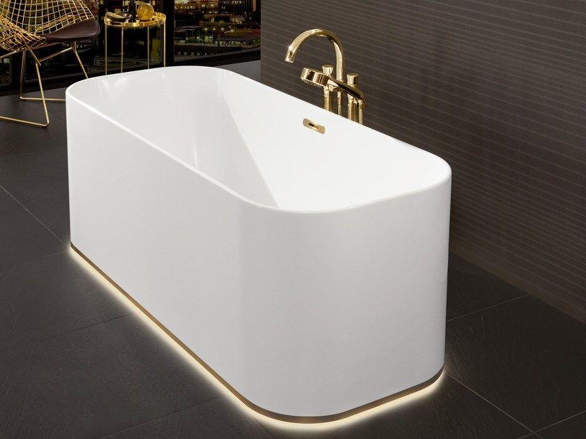Freestanding Rectangular Quaryl Bathtub With Light Bathtub Free Standing Bath Tub Villeroy Boch
