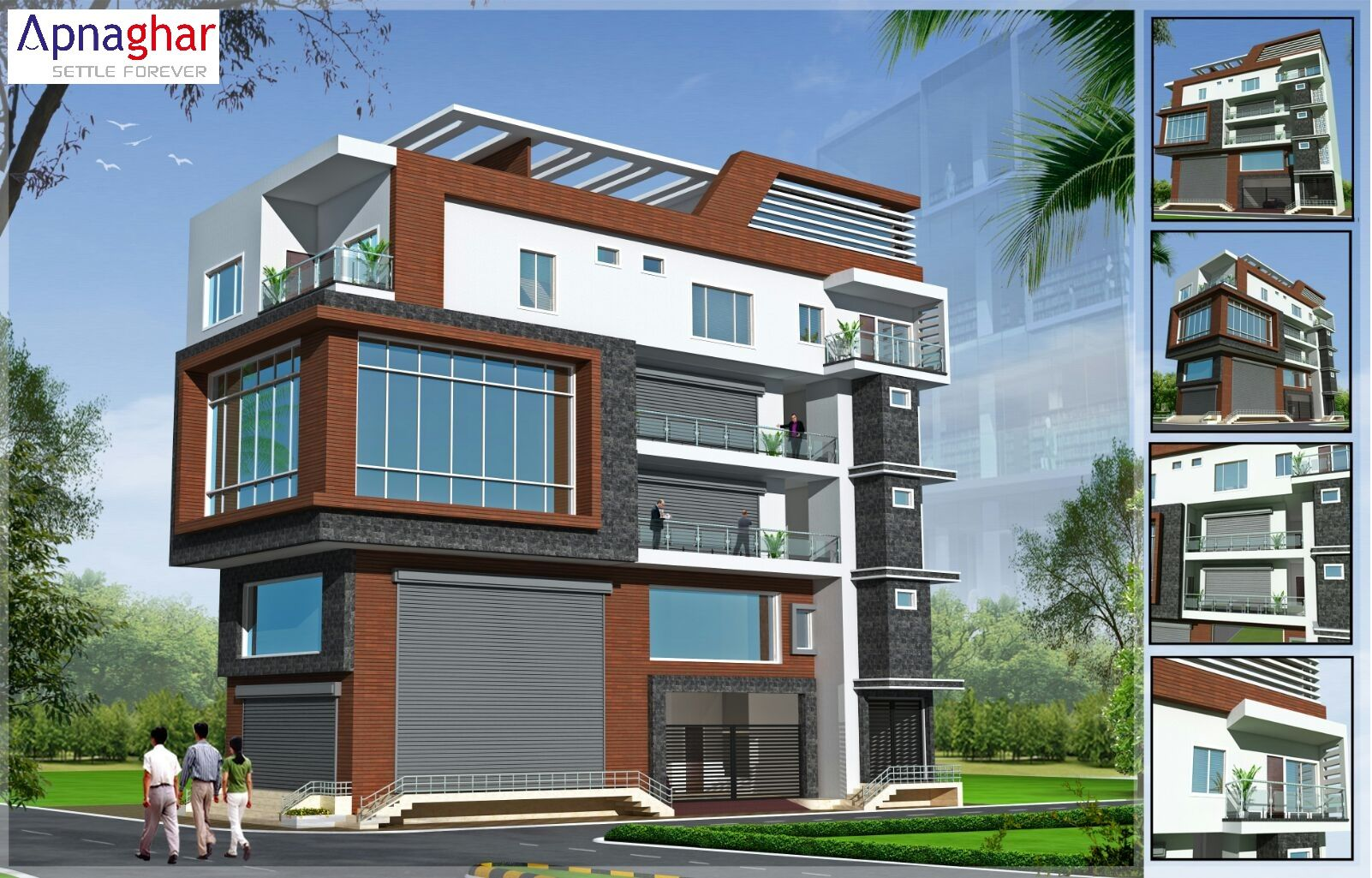 Planning To Build Commercial Plus Residential Building Take Expert Assistance Visit Www Apnaghar Co In Residential House Architecture House Architecture