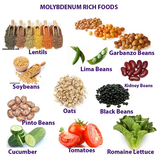 MOLYBDENUM MINERAL HEALTH BENEFITS DEFICIENCY AND RICH FOODS 18 - potassium rich foods chart