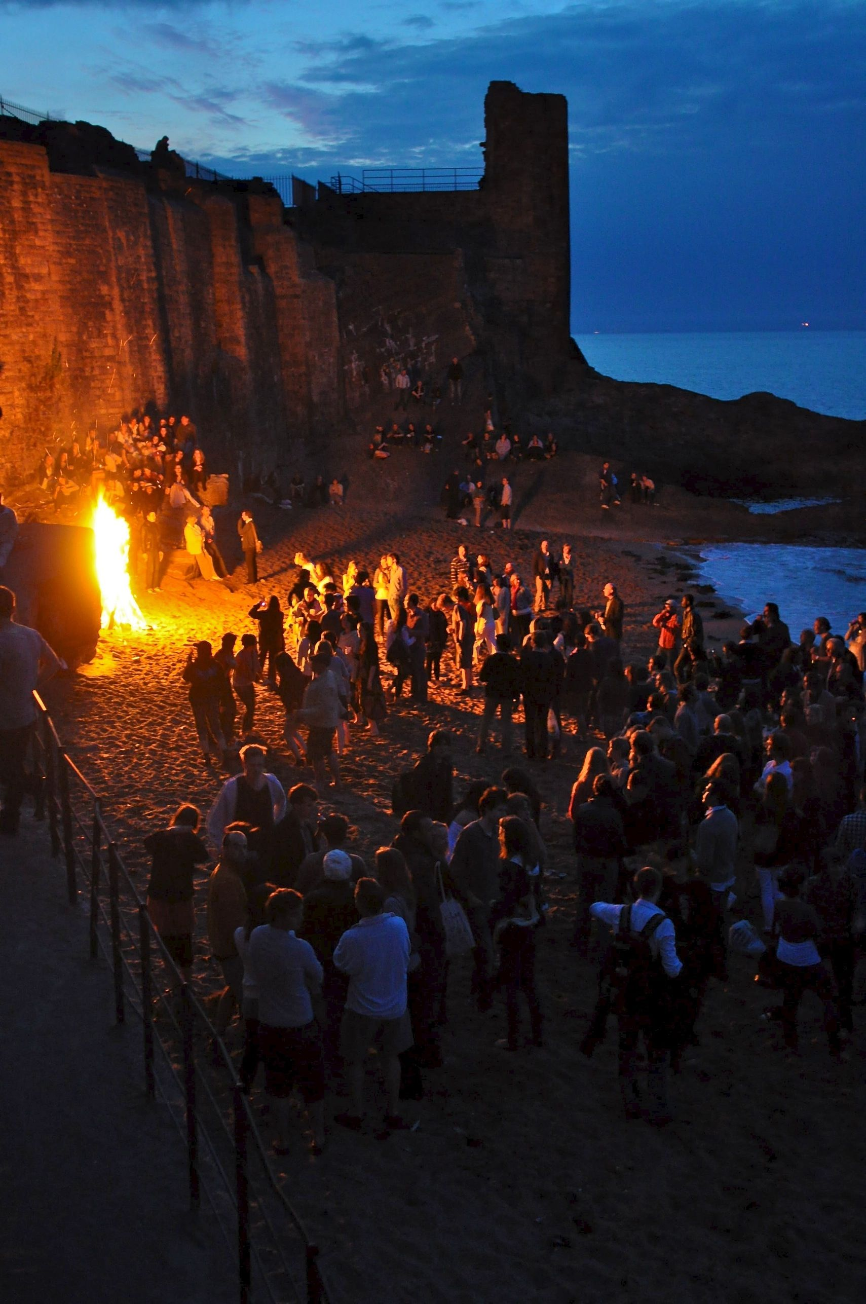 On May 1st, students traditionally run into the North Sea at dawn in an event known as 'May Dip.' Revelers usually gather on the town's beaches to have bonfires and hang out prior to sunrise.