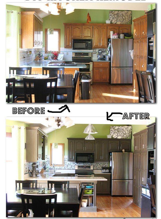 repeindre sa cuisine soi m me 4 conseils essentiels cuisine avant apr s pinterest kitchens. Black Bedroom Furniture Sets. Home Design Ideas