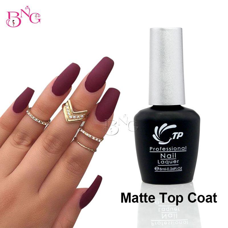 1pc Matte Top Coat UV LED Long-lasting Nail Gel Polish 8ml Clear ...