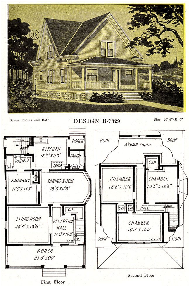 1918 Late Queen Anne Free Classic House Modern American Homes C L Bowes Craftsman House Plans Farmhouse Floor Plans Classic House