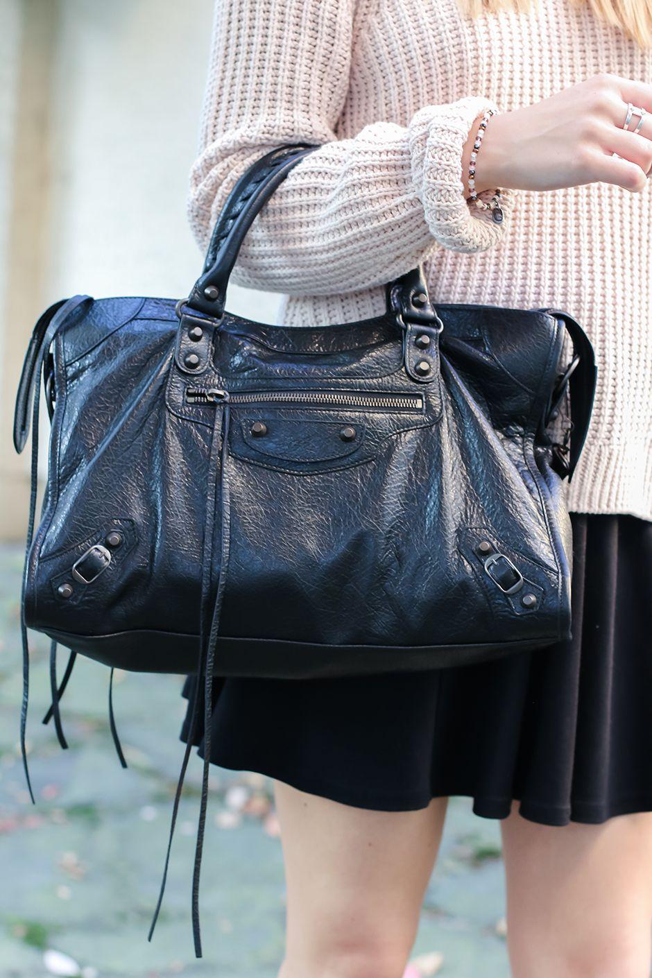 Balenciaga Classic Black Ss Motorcycle Bag Mini City Handbags