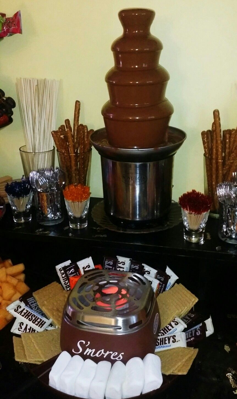 AshsGradParty Chocolate Fountain Smores