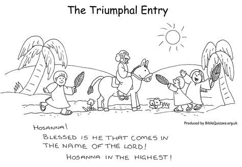 Sunday School Coloring Page The Triumphal Entry Into